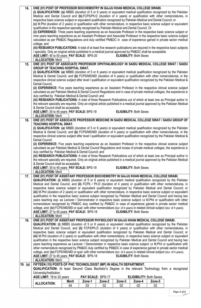 Jobs in KHYBER PAKHTUNKHWA PUBLIC SERVICE COMMISSION