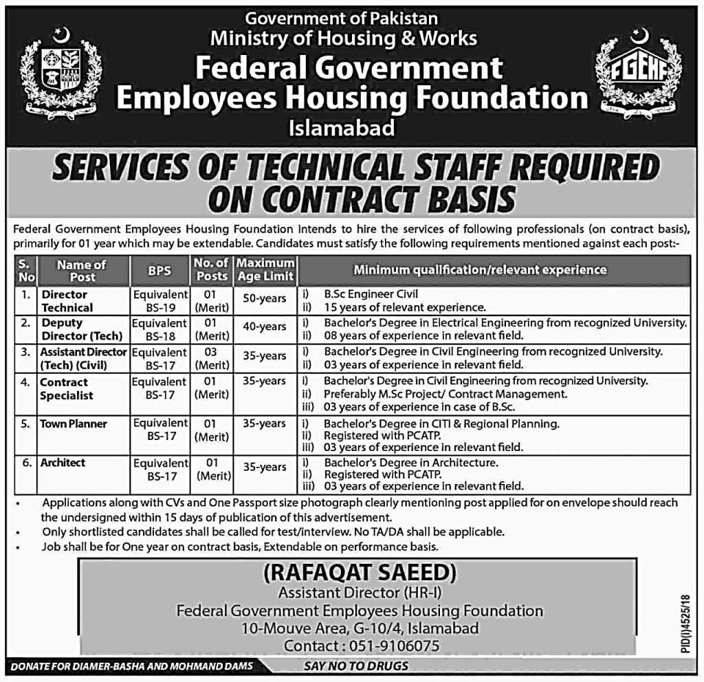 Federal Government Employees Housing Foundation Islamabad