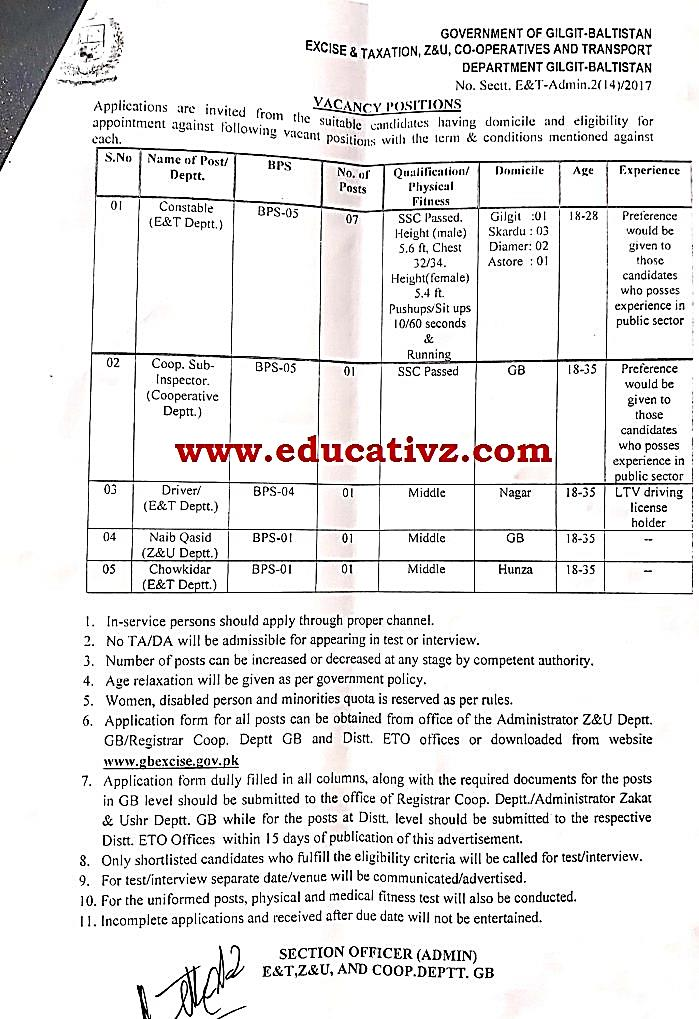 Excise and Taxation Jobs