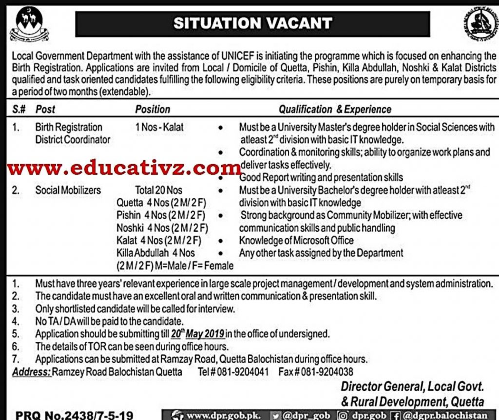 Local Government Jobs 2019