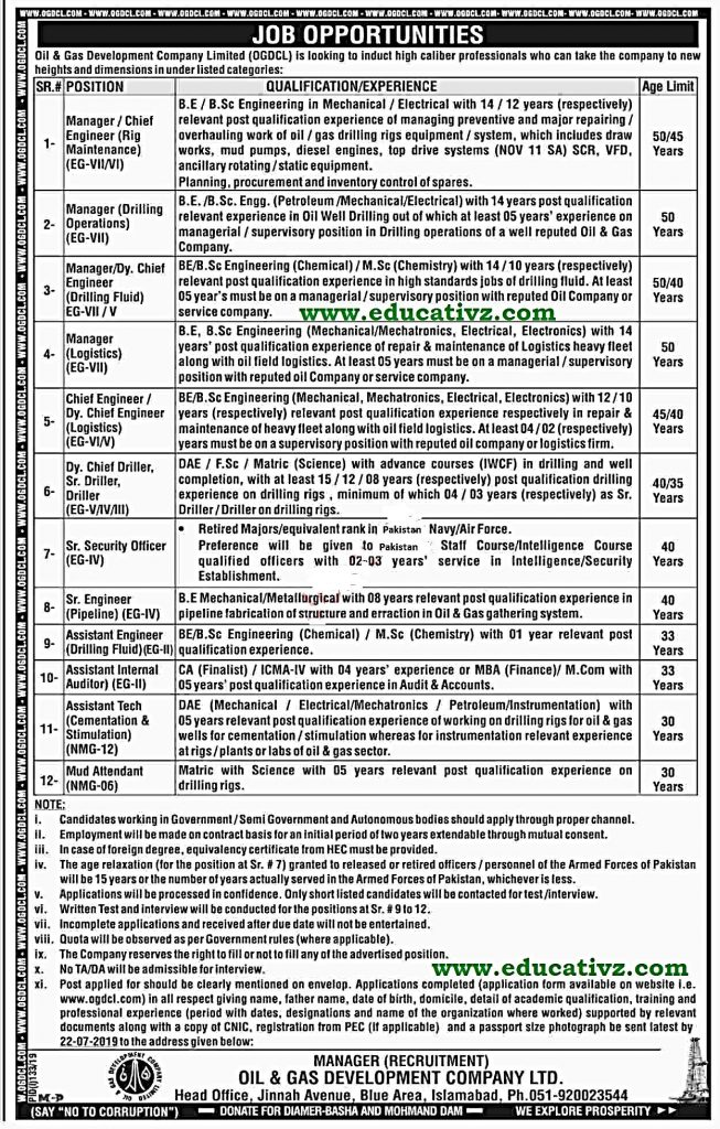 Oil and Gas Company Jobs 2019