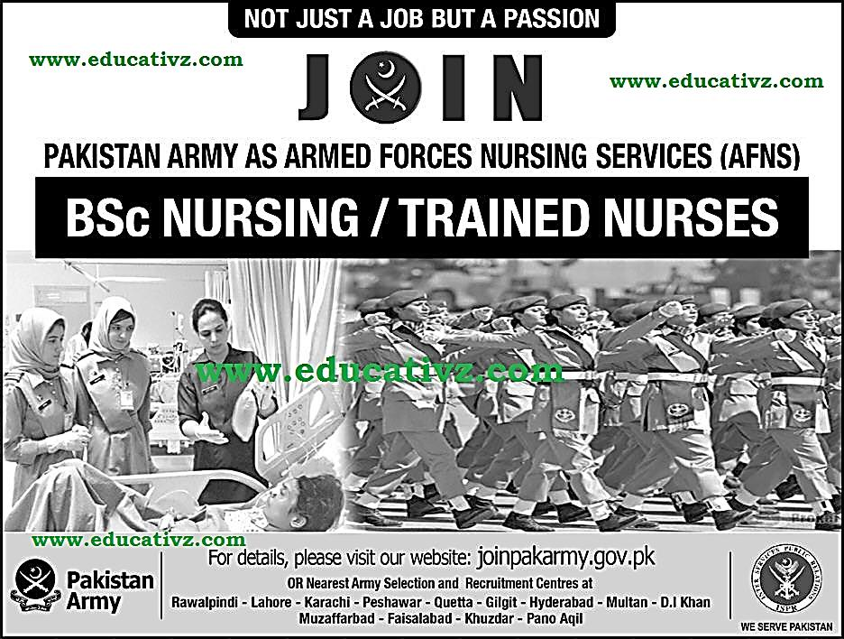 Join Pakistan Army as AFNS Jobs 2019