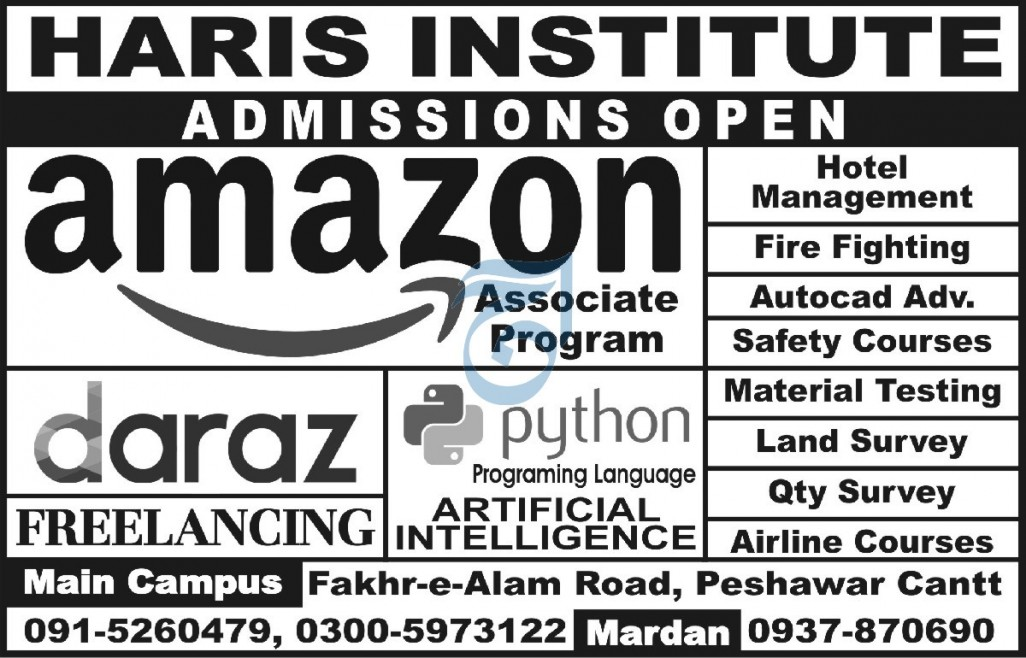 Haris Institute Admissions 2020 for Amazon Associate Program, Python, Daraz, Freelancing and Others