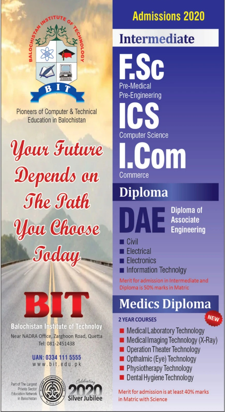 Balochistan institute of Technology (BIT) Admissions 2020 Latest