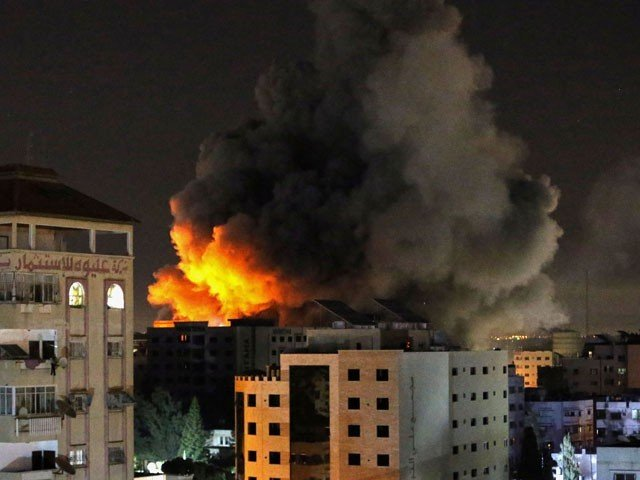 The Israeli bombardment of Gaza on the second day also killed 43 people
