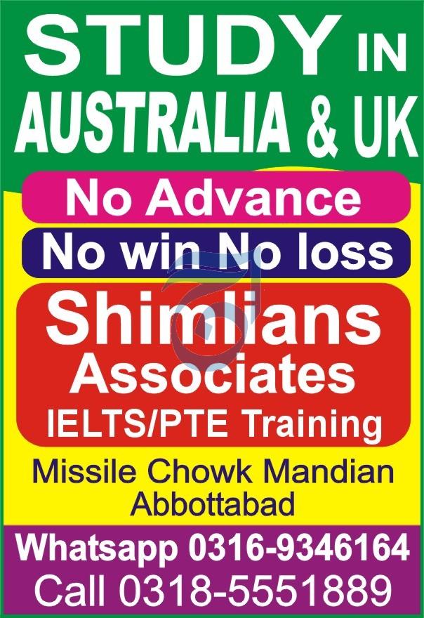 Shimlians Associates ILETS/PTE Training 2021 Aaj Newspaper
