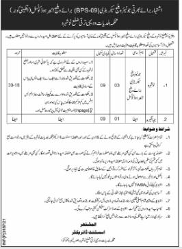 Govt Jobs In Nowshera 2021 For Junior Village Secretary