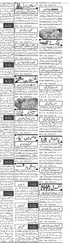 Aaj Newspaper Jobs 2021 - Latest Classified Jobs