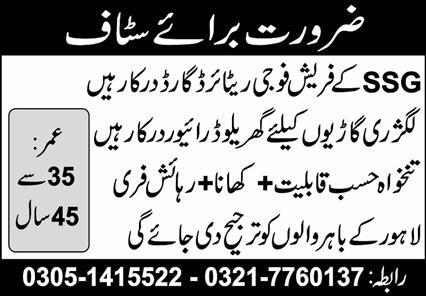 Driver and Retired Army Guard Jobs 2021  Latest