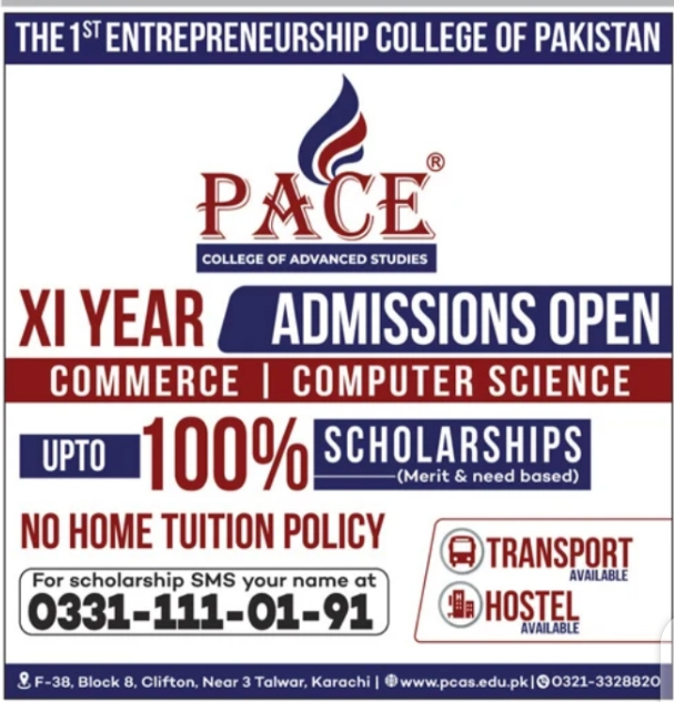 Pace College of Advanced Studies Karachi Admission Open 2021 Latest